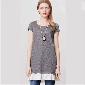 Anthropologie Clu+Willoughby Heather Flutter Tunic